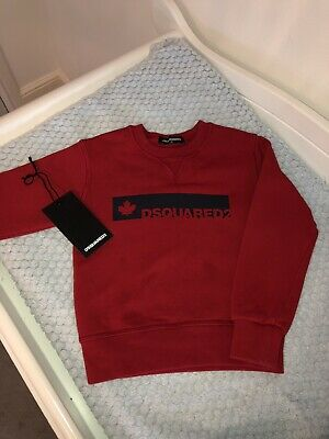 dsquared Red Baby Boy Jumper Age 2 4 With Tags