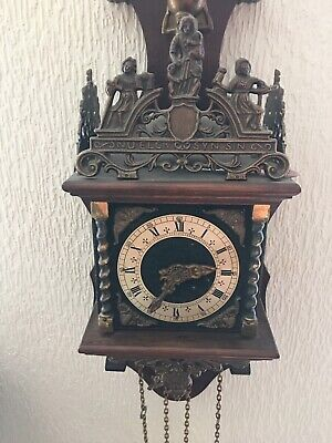 Dutch Zaandam Pendulum Wall Clock Working And Chiming