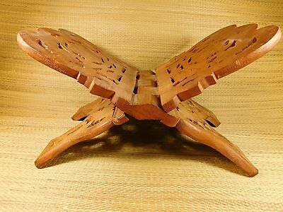 hand carved India rosewood bible holder/book holder