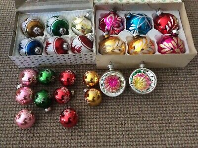 BULK LOT OF VINTAGE CHRISTMAS TREE DECORATIONS ..NICE LOT 24 In Total