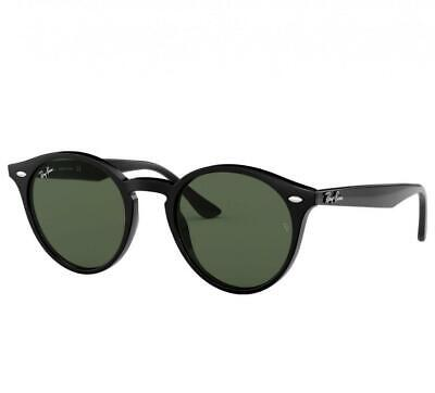 00facf0a4d374 Ray-Ban RB2180-601 71 Black Round Frames Green Classic Lenses Sunglasses