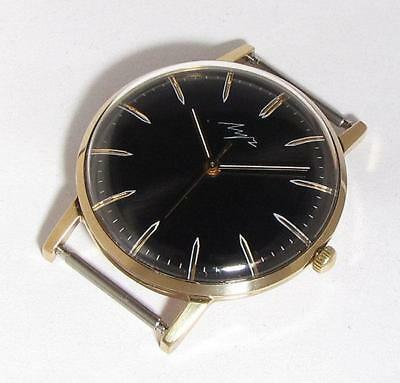 NICE RARE Vintage LUCH SLIM USSR Wristwatch 2209 23j 1970s goldplated SERVICED