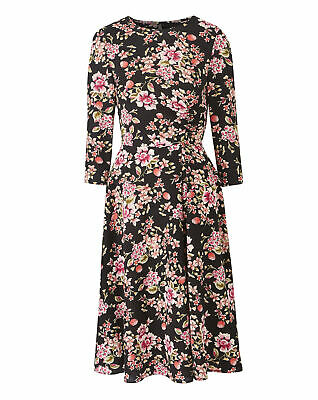 Womens Ruched Front A Line Dress