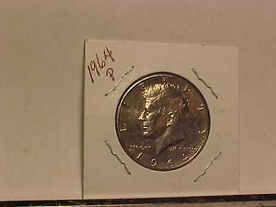 1964 John Kennedy Half Dollar Flashy Gem Example, 90% SILVER