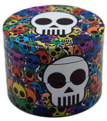 "1.9""  50 mm 4 Part UV Printing CUTE CARTOON Skull Grinder USA SELLER 17450SKC"