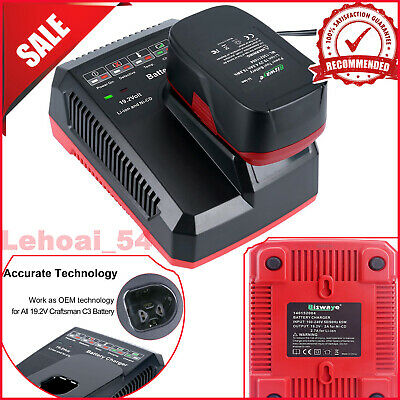 NEW Battery Charger for Craftsman C3 19.2V XCP Lithium-ion & Ni-Cad Replacement