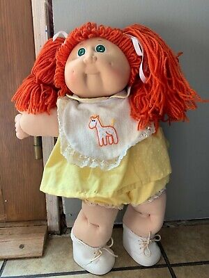 Vintage Cabbage Patch Girl Doll Red Hair Green Eyes 1984