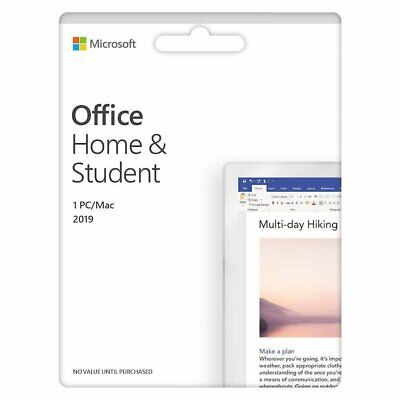 Microsoft Office Home & Student 2019 (1 Device) (Product Key Card) - Mac|Windows