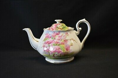 Royal Albert England Bone China Blossom Time Teapot With Lid