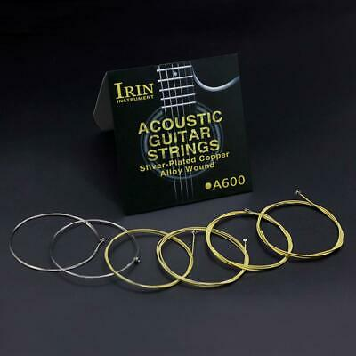 6pcs Acoustic Guitar Brass Strings Replacement Full Set Steel Core Brass Wound