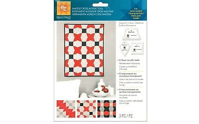 Ez Maltese Cross Acrylic Template Set - Simplicity Quilting Patchwork