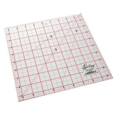"SEW EASY 9.5"" x 9.5"" SQUARE ACRYLIC TEMPLATE RULER - PATCHWORK QUILTING"