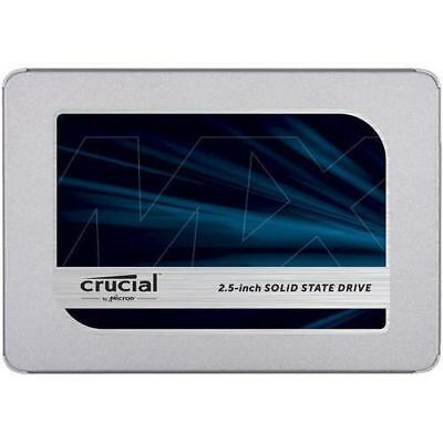 "Crucial Technology MX500 500GB 2.5"" Internal SSD, SATA III 6Gb/s #CT500MX500SSD1"