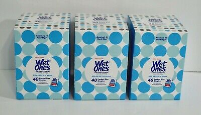 Lot of 3 Boxes Wet Ones Antibacterial Hand Wipes Fresh Scent 48 Singles Each