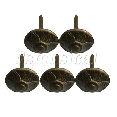 100Piece 13x17mm Upholstery Nail Pin Thumbtack with Round Head of Bronze