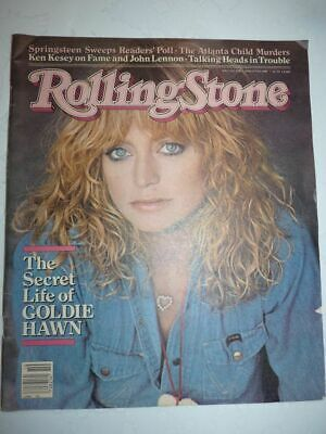 ROLLING STONE MAGAZINE US #338 march 5 1981 Goldie Hawn