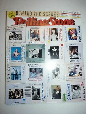 ROLLING STONE MAGAZINE US #828/829 december 16 1999 special photo issue
