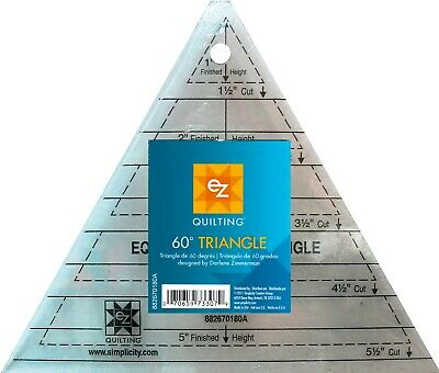 Ez 60 Degree Triangle Acrylic Template - Multi Size -  Patchwork Quilting