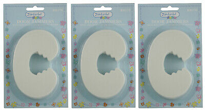 Baby Child Safety No Finger Pinch Foam Door Stopper Guard Cushion Curved 3 Pack