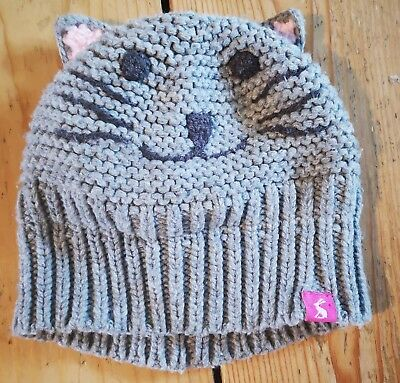 Joules Baby Girls lined hat 6-12 months great condition warm animal design
