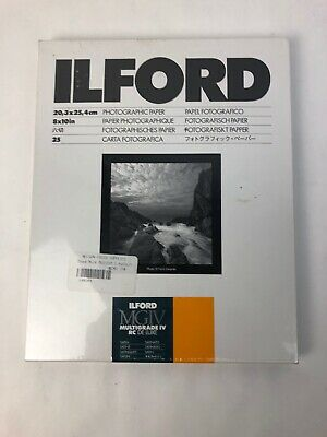 "Rare Ilford Multigrade IV RC Deluxe  8x10"" - 20+ Sheets - Satin Surface FSTSHP"
