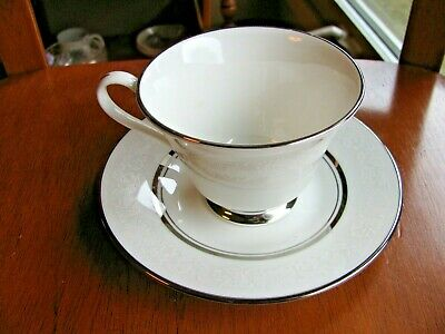 Oxford White Echo Cup & Saucer Set USA Lenox Bone China Mult Avail