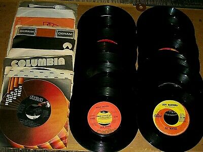 Mixed Lot of (26) 45 RPM Vinyl Records Various Artist & Songs