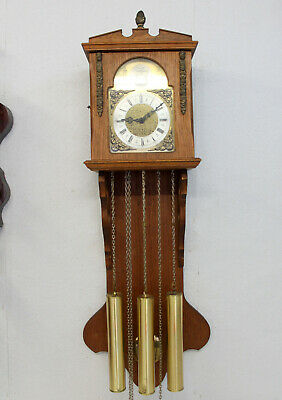 Old Wall Clock Westminster Clock Dutch 8 Day Clock Tempus Fugit