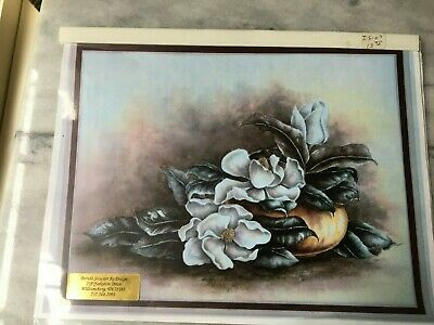 Oil Painting Instruction Packet MAGNOLIAS  In Brass Bowl-by BRENDA STERART