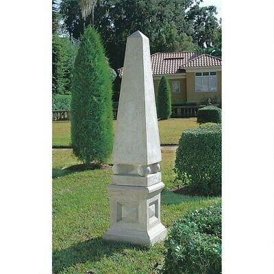 Ancient Egyptian Architectural Neoclassical Garden Obelisk Huge 8 Foot Statue