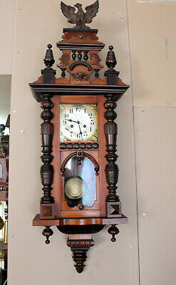 Antique Wall Clock Vienna Regulator 19th century Cimes Clock *JUNGHANS* 117 cm