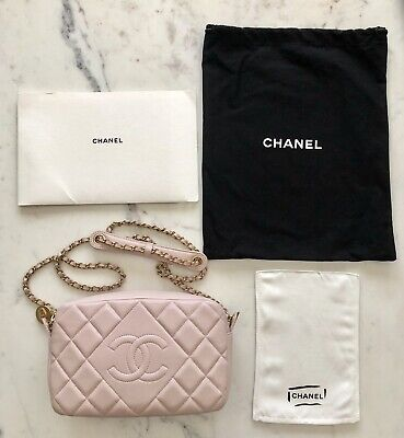 322968c6a093 Chanel Quilted Diamond CC Chain Camera Bag in Pink Lambskin - Never Been  Used