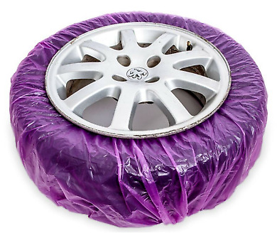 ALLOY WHEEL MASKING SYSTEM WHEEL MASKING FILM 4 x PAINT ABSORBENT COVERS