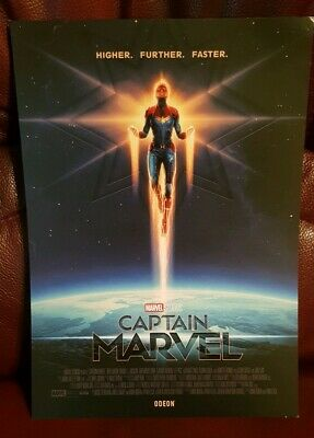 Captain Marvel 2019 Odeon Movie Poster - Size A4