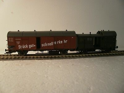 Fleischmann HO 5305 Articulated Baggage and Box Vans - unused