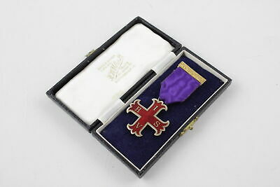 Vintage Hallmarked Silver Masonic Red Cross Constantine Breast Jewel Boxed
