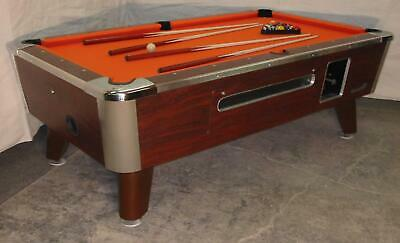 Valley Cougar Commercial 7' Coin-Op Bar Size Pool Table Model Zd-4 In Orange