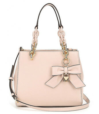 26c4b0eafe54 Michael Kors Cynthia Small Convertible Satchel Soft Pink Leather Bow +MK  dustbag