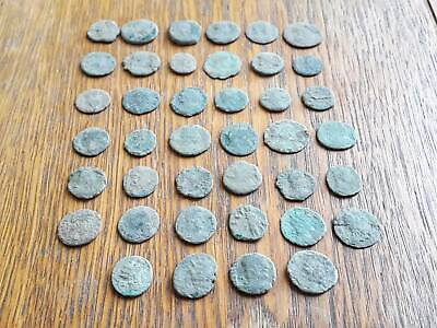 Lot Of 40 Ancient Roman Coins For Cleaned Intact