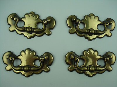 4 Vintage 50's Heavy Brass Cast Chippendale Federal KBC Drop Bail Pull Handles