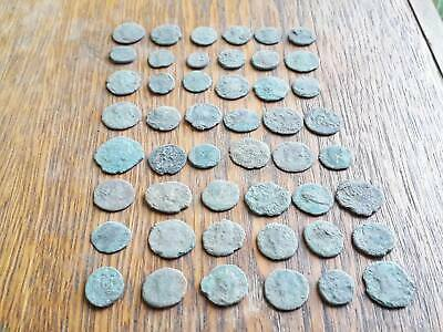 Lot Of 48 Ancient Roman Coins For Cleaned Intact