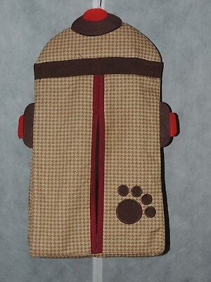 Lambs & Ivy Fire Hydrant Diaper Stacker Puppy Dog Brown Red Paw Print