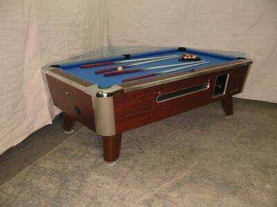 Valley Cougar Commercial 7' Coin-Op Bar Size Pool Table Model Zd-4 In Blue