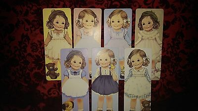 7pcs *Party Favors* Loose Vintage Girl Doll HQ Bookmarks/ Greeting Cards ~ALICE
