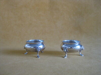 J. E. Caldwell Pair of Sterling Silver 19th Century Salts