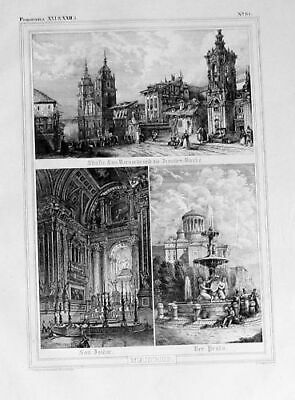 1835 - Madrid Espana Original Lithograph 50985