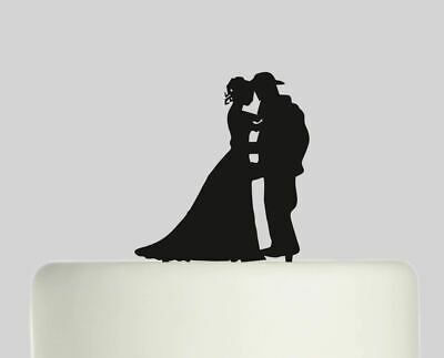 Bride and Firefighter Fireman Wedding Acrylic Cake topper .569