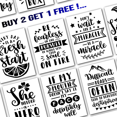 Motivational / Inspirational / Funny Typography Quote Posters - A5/A4/A3