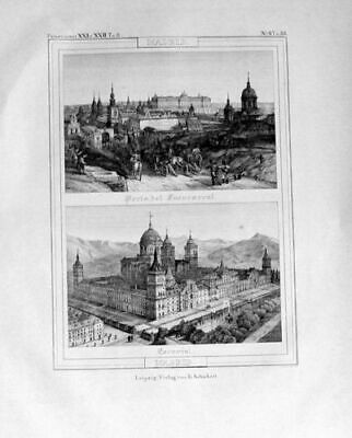 1835 - Madrid Espana Original Lithograph 76866