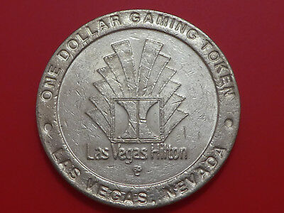 Casino Dollar Token Chip Coin Gambling - Las Vegas Hilton - Las Vegas, Nevada